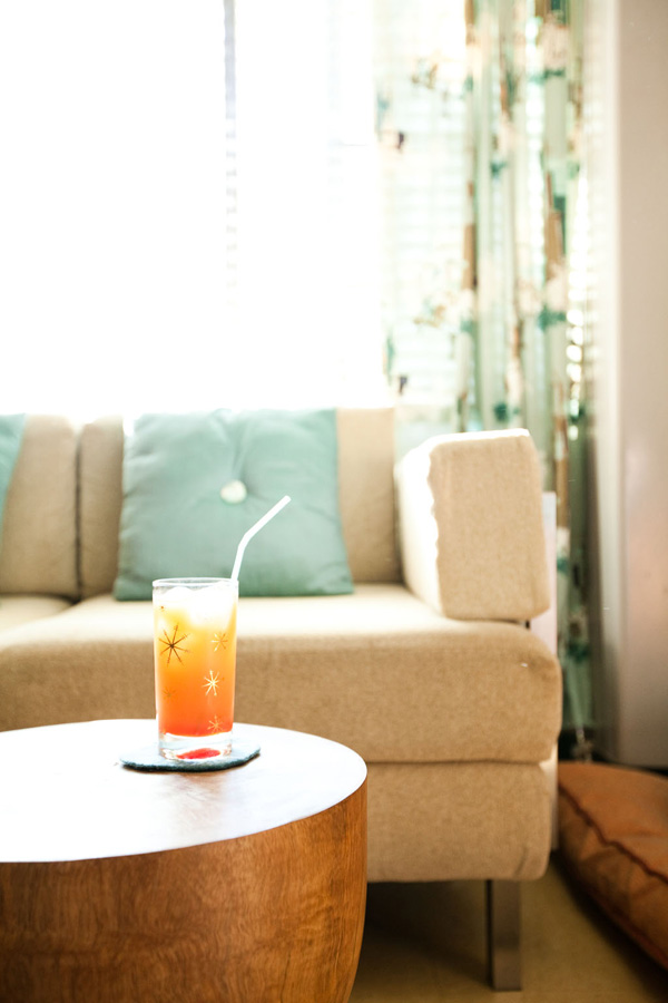 Sofa and drink
