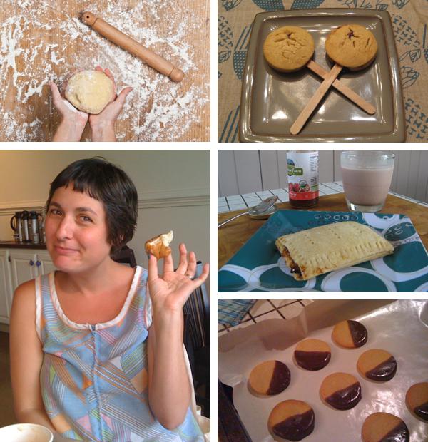 Becky and three vegan desserts