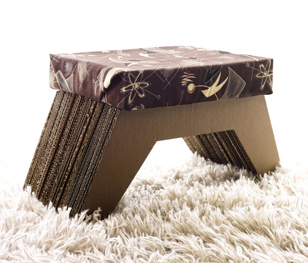 Cardboard ottoman