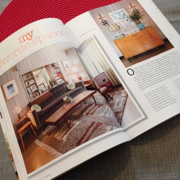 My Lustron living room in Atomic Ranch magazine