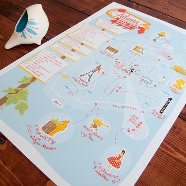 Atlanta best vintage shop print by Finely Crafted