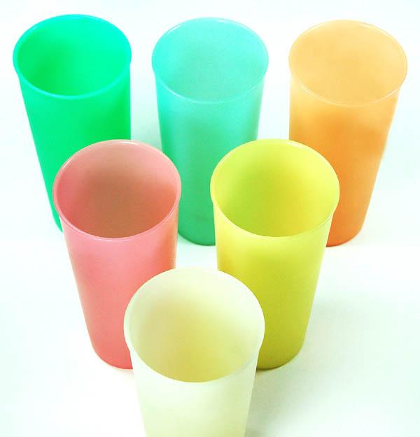 Tupperware pastel tumblers