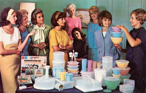 vintage photo Tupperware party
