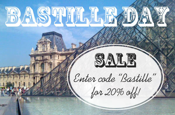 Bastille Day sale at Finely Crafted