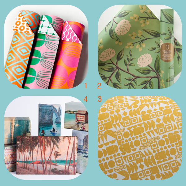 Four wrapping papers for year-round giving