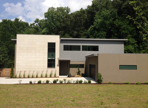Modern home in Morningside, Atlanta; photo by Finely Crafted