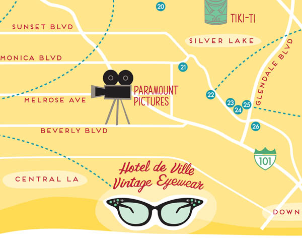 Hotel de Ville on Best Vintage Shops map by Finely Crafted