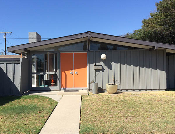 Orange and gray modern ranch
